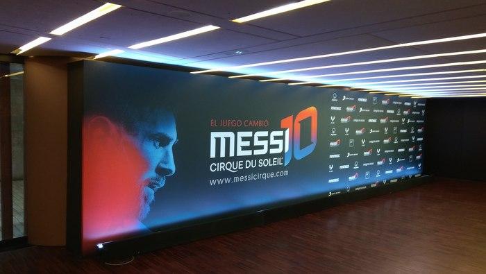 Leo Messi and the Cirque du Soleil