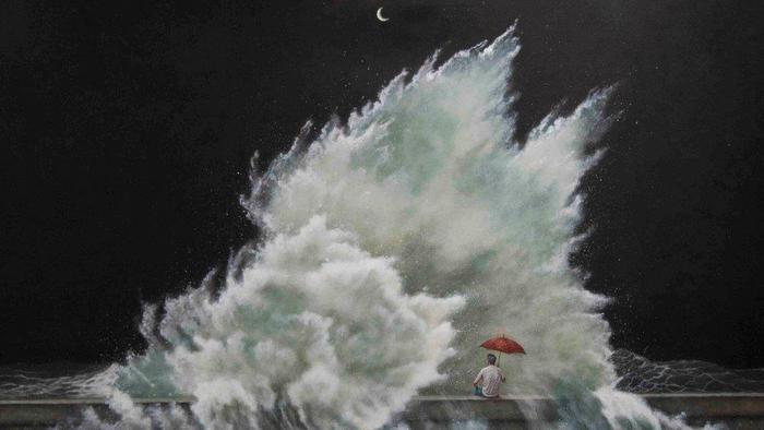 Roberto González: El Malecón, pintura adentro