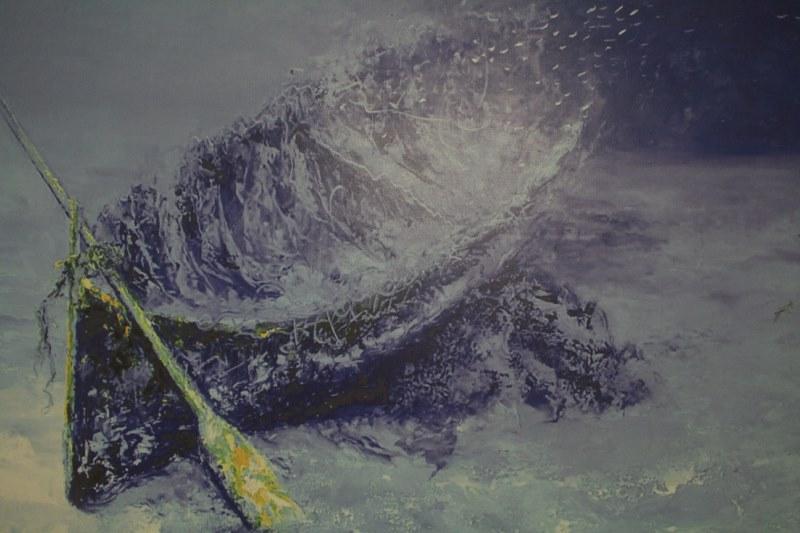 """""""Arte bajo las olas"""" en Santiago"""