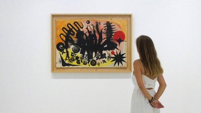En Madrid gouaches sobre papel de Calder