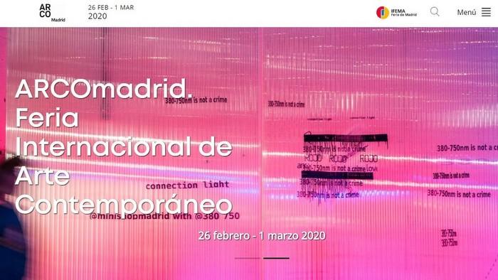 Spanish art fairs premiere websites