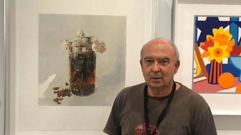 Víctor Galán en Estampa y su apuesta por la obra gráfica