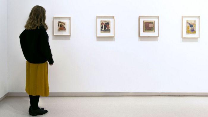 Esteban Vicente reverenciado en la Galería Elvira González