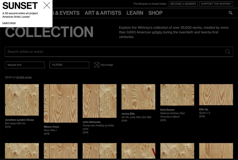 """American Artist's """"Looted"""" Launches Today on the Whitney's artport"""