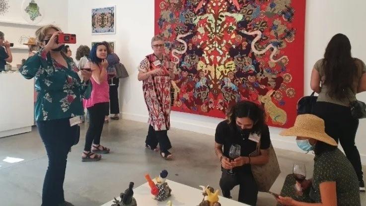 Saberes artísticos femeninos a evento binacional