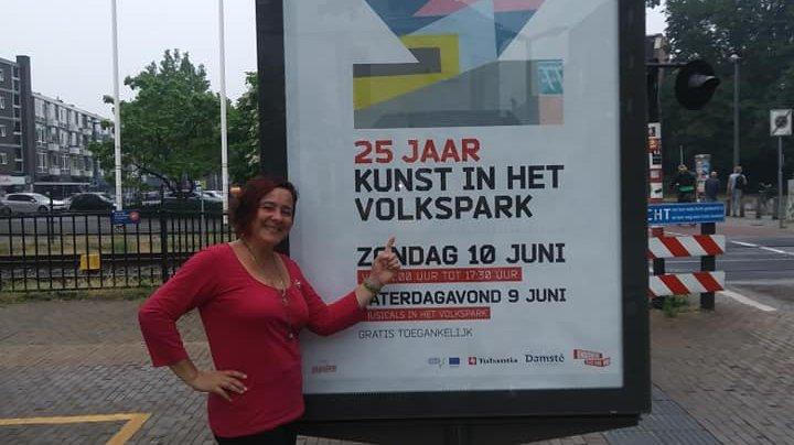 Yudith Vidal expone sus obras en el Festival Kunst in het Volkspark