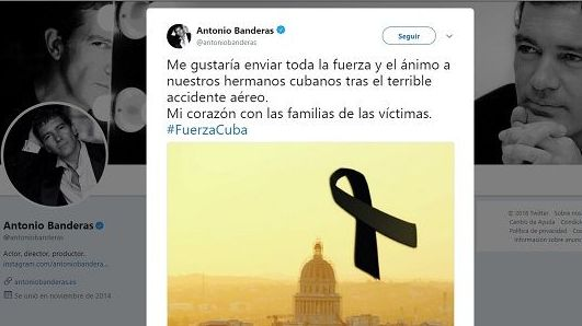 #FuerzaCuba, artistas expresan condolencias por accidente aéreo en Cuba