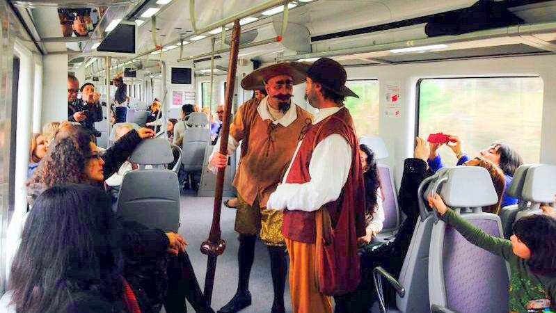 Rodar con Arte: El tren de Cervantes