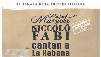 Monica Marziota y Niccolò Fabi cantan a La Habana
