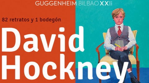 Retratos de David Hockney en el Museo Guggenheim Bilbao