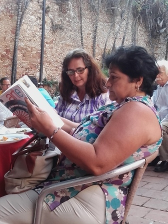 También nos acompañaron Isabel Rueda, del Museo Romántico y Enriqueta Ramírez del Museo Municipal de Historia de Trinidad