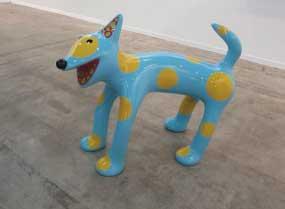 Pieza Perro (2014), escultura de 180 mil dólares en la galería David Zwirner, de la sección general de la feria.