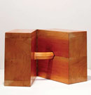In love (after Brancusi), 2004 Madera y bisagra / Wood and hinge 30 x 30 x 30 cm Colección Collection Beth DeWoody, New York