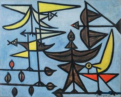 Óscar Domínguez (1906-1957), Pájaros, 1947. Asociación Colección Arte Contemporáneo, Museo Patio Herreriano.