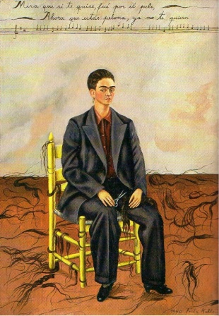 Frida Kahlo, Autorretrato con pelo corto, 1940 -  Nueva York, The Museum of Modern Art. Don d'Edgar Kaufmann, Jr., 1943