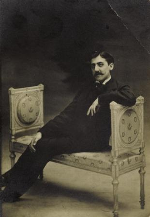 Otto, Otto Wegener Dit, Marcel Proust on a couch. [Probably 27 July 1896]. Original photograph.