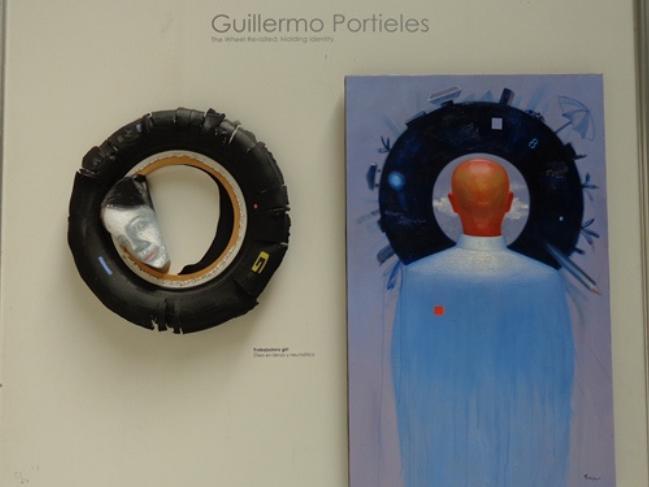 La rueda recreada, del artista cubano, residente en Estados Unidos, Guillermo Portieles. Foto: Susana Méndez