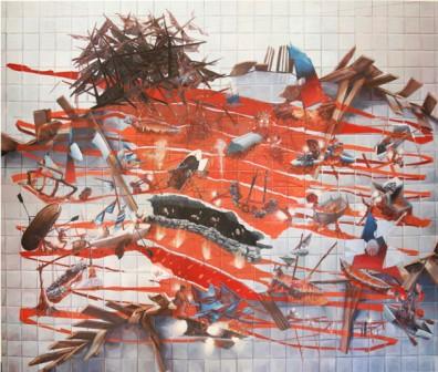 """Hell"" . 2015.  Oleo sobre lienzo.  162 x 195 cm."
