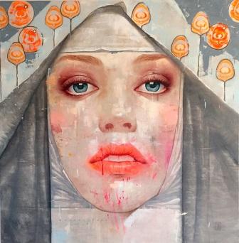 Roldan Lauzan. Hierofante - Óleo sobre lienzo - 150 x 140 cm - 2016