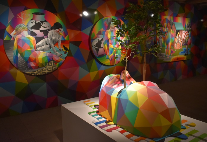 "The rainbow Mountains "", by Okuda San Miguel"