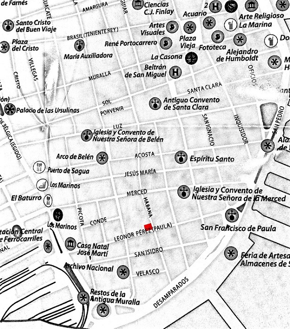 Map to get to the workshop of López Oliva