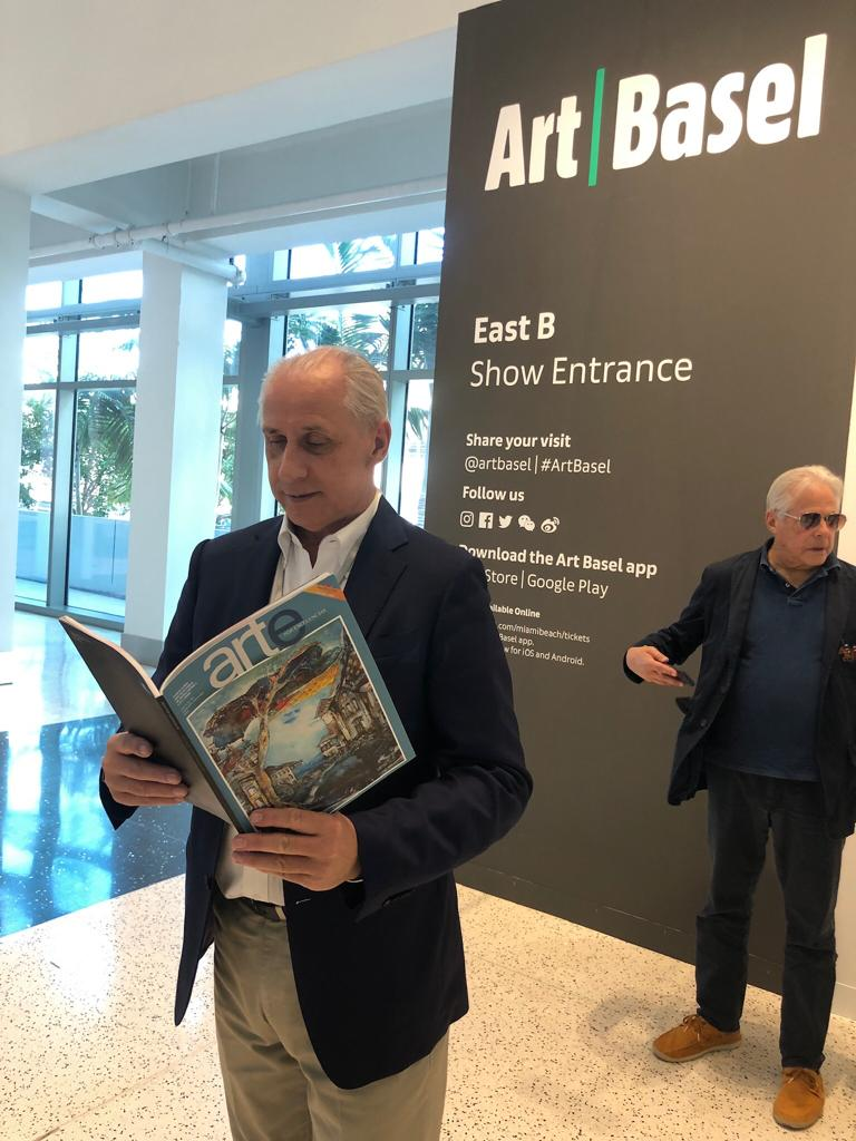 José Carlos de Santiago, president of the Excelencias Group, toured the Art Basel Miami fair again.