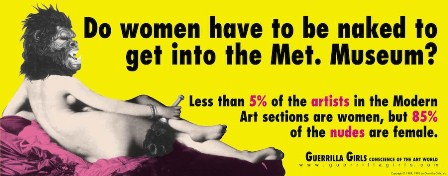 Matadero Madrid presenta Guerrilla Girls 1985-2015, 30 años de activismo feminista