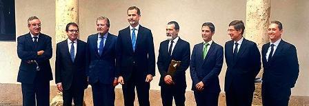 El Rey entregó el Galardón Camino Real del Instituto Franklin-UAH al actor Antonio Banderas