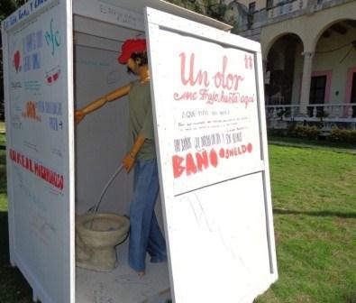 El arte dará respuesta a la carencia de baños públicos en La Habana