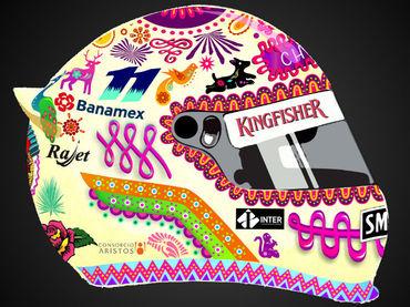 'Amor Eterno', diseño ganador del casco que usará 'Checo' Pérez