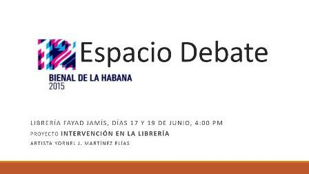 Espacios de debate de la 12º Bienal de La Habana en Librería Fayad Jamís