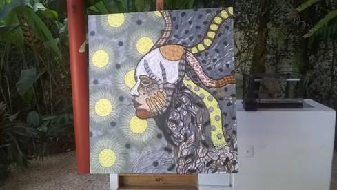 Dona López Oliva obra realizada en Brasilia al Centro Cultural de la Cámara de Diputados de ese país