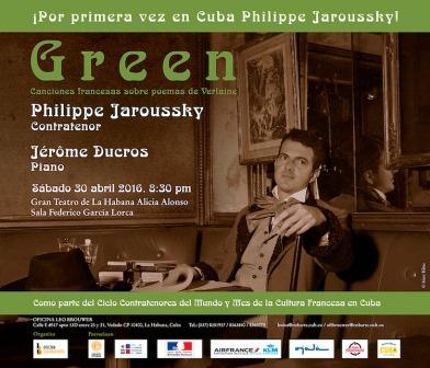 Mundialmente  reconocido, Philippe Jaroussky, actuará por vez primera en Cuba