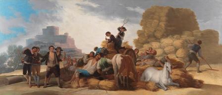 El Prado devuelve la luminosidad al cuadro La era, de Goya
