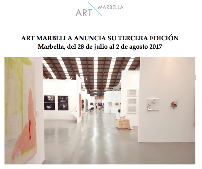 ART MARBELLA anuncia su tercera edición