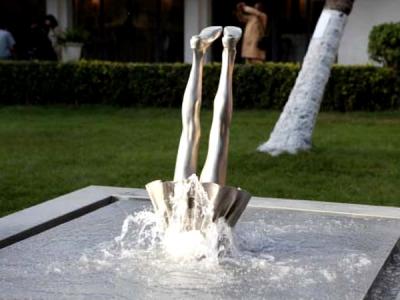 EN LA BIENAL: Juegos con el agua