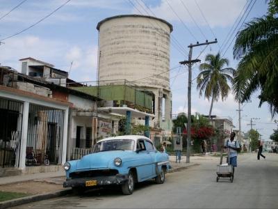 La Bienal de La Habana en el tanque de agua de Pogolotti