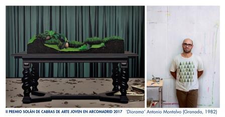 El pintor Antonio Montalvo, galardonado con el II Premio Solán de Cabras de Arte Joven en ARCOmadrid 2017