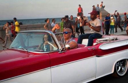 """Hollywood sigue """"Rápido y Furioso"""" en La Habana"""