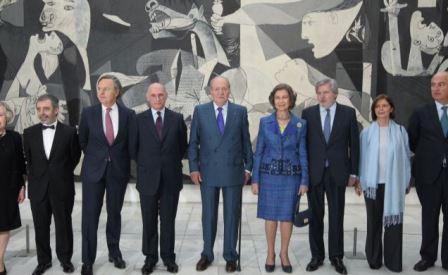 """Don Juan Carlos y Doña Sofía presidieron la inauguración de la exposición """"Piedad y terror en Picasso: el camino a Guernica"""""""