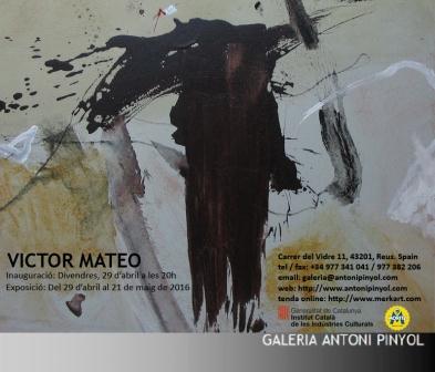 Víctor Mateo en la Galería Antoni Pinyol