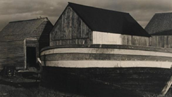PAUL STRAND  BOATS AND SHEDS, GASPÉ 1929