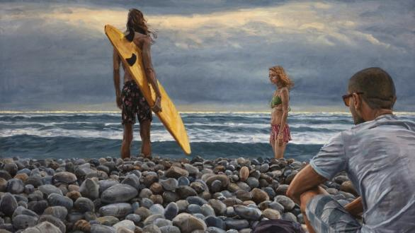 Michele del Campo. The surfer