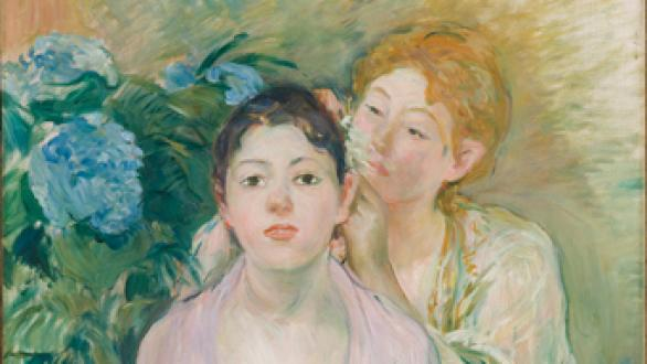 Berthe Morisot (France, 1841-1895) L'hortensia (The hydrangea) 1894. Oil on canvas, 73.1 x 60.4 cm. Musée d'Orsay, Paris, France. © Photo Musée d'Orsay / rmn.
