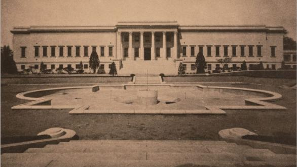 Photo of completed construction of museum in 1938. Courtesy MMCA, Korea.