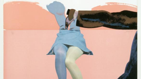 Allen Jones, Life Class B (Touching Shoe, Pink); 1968. Courtesy the British Council Collection P1201.