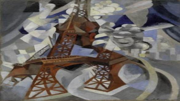 Robert Delaunay, Red Eiffel Tower (La tour rouge), 1911-12.  Solomon R. Guggenheim Museum, New York, Solomon R. Guggenheim Founding Collection, 46.1036