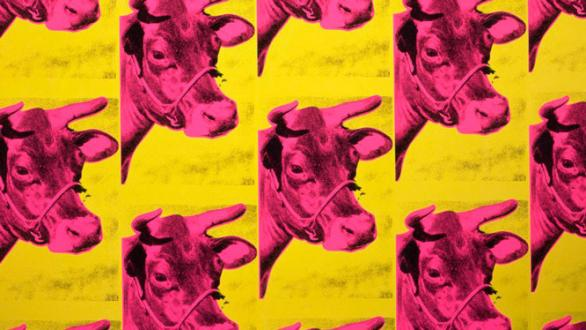 Andy Warhol. Cows on painted paper, 1966. Collection of the Andy Warhol Museum, Pittsburgh. © 2017 The Andy Warhol Foundation for the Visual Arts, Inc. / VEGAP