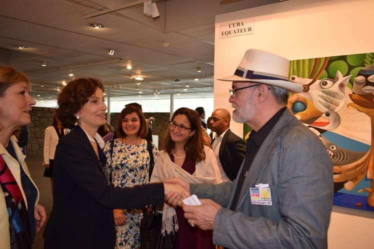 Cuban Painter Participates at UNESCO's Exhibition