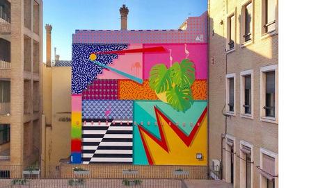 "Universidad de Sevilla estrena mural ""Tropicalismo andaluz"""